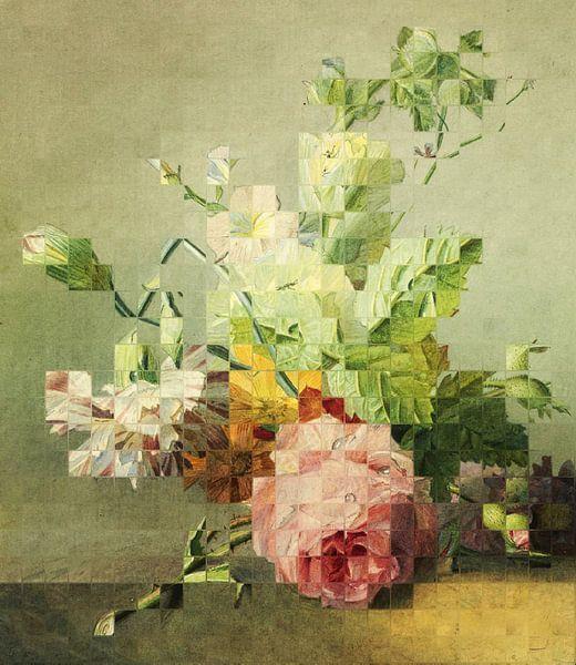 Mozaïek van een stilleven (VT Wonen & Design Beurs 2019) van Marja van den Hurk