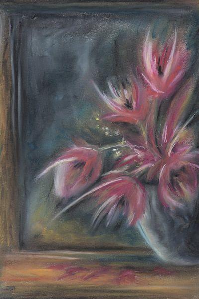 Stilleven Vaas met bloemen van Henriëtte Mosselman