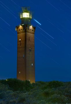 Nachtfoto Vuurtoren Ouddorp van Anton de Zeeuw