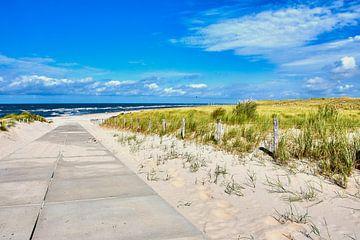Weg naar het strand in Petten van C. Nass