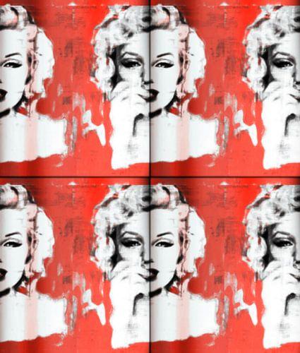 Marilyn Monroe Red Collage van Felix von Altersheim
