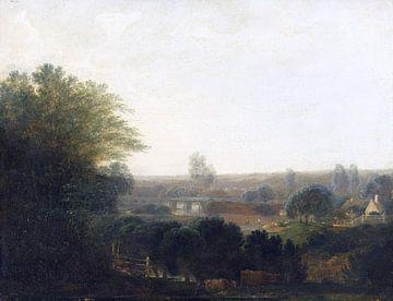 Oberbayerische Flusslandschaft, MAX JOSEPH WAGENBAUER, Um 1800 von Atelier Liesjes
