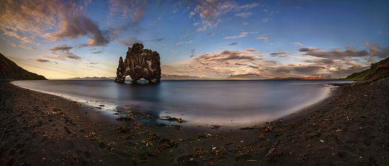 Hvitserkur sunset van Wojciech Kruczynski