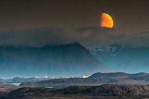 Mondaufgang Snaefelness, Island