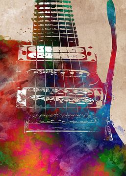 Gitarre 10 Musik Kunst #Gitarre #Musik von JBJart Justyna Jaszke