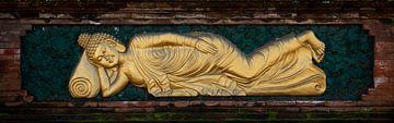 Liegender goldener Buddha von Ellis Peeters