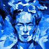Motiv Frida Porträt Waterblue Splash von Felix von Altersheim Miniaturansicht