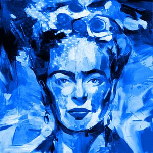 Motiv Frida Porträt Waterblue Splash
