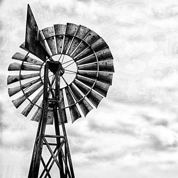 windmolen in zwart wit