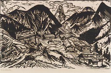 Stafelalp mit Tinzenhorn, ERNST LUDWIG KIRCHNER, 1917