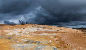 Geothermisch landschap Krafla op IJsland