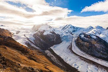Gornergletscher im Monte-Rosa-Massiv in der Schweiz von Werner Dieterich