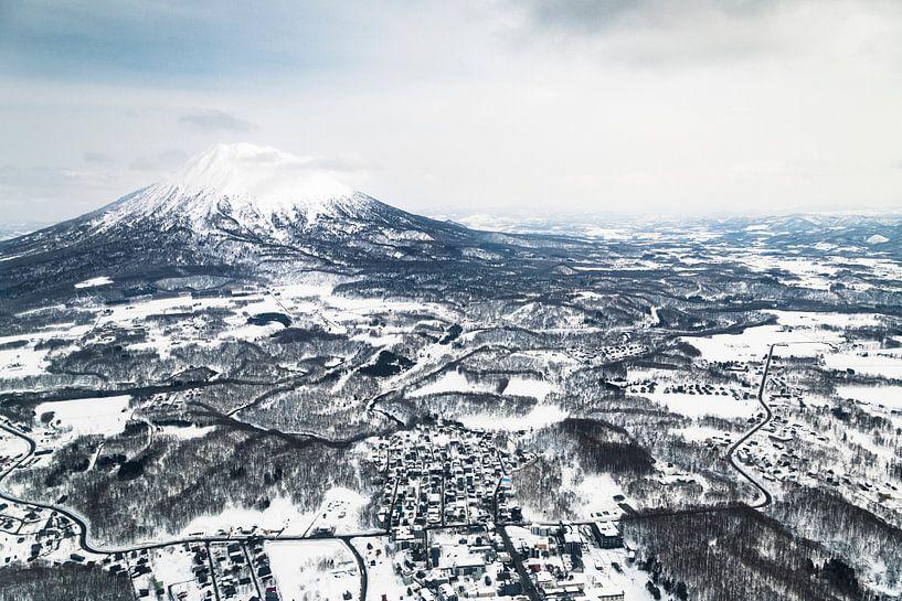 Helikopter vlucht in Japan van Hidde Hageman
