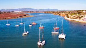 Aerial van de haven van Alvor in de Algarve Portugal van