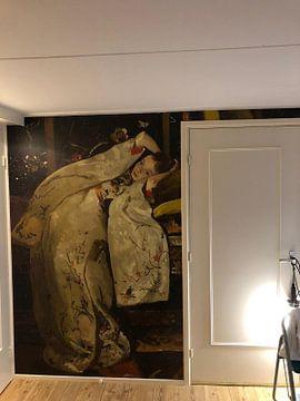 Kundenfoto: Mädchen im weißen Kimono - George Hendrik Breitner