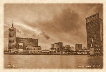 Oude ansichten: Rotterdam Kop van Zuid van Frans Blok