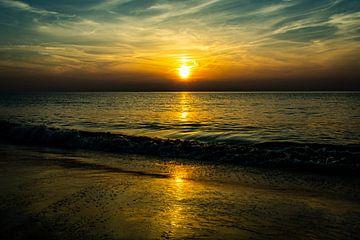 Zonsondergang van Maarten van Wijk
