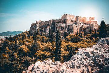 Akropolis van Athene van Leon Weggelaar