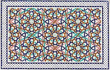 Marokkaans mozaïek, wandpaneel I van