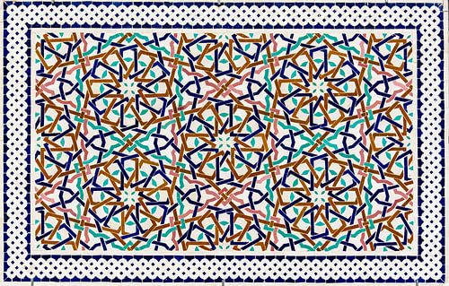 Marokkaans mozaïek, wandpaneel I