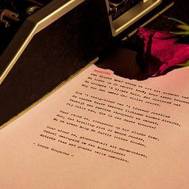 Typemachine met roos van Rudy Rosman