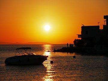 Sonnenuntergang auf der griechischen Insel Amorgos von Liefde voor Reizen