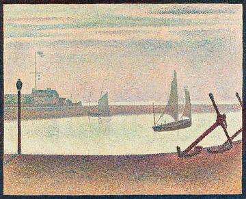 Georges Seurat, Der Kanal von Gravelines, Kleines Fort Philippe - 1890 von Atelier Liesjes