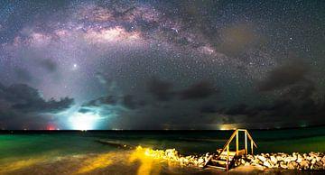 Melkwegpanorama over de Malediven van Christian Klös
