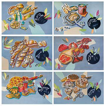Keukenkunst - productgroepen, 6 illustraties