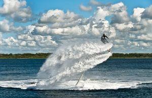 Flyboarden bij de Veerse Dam