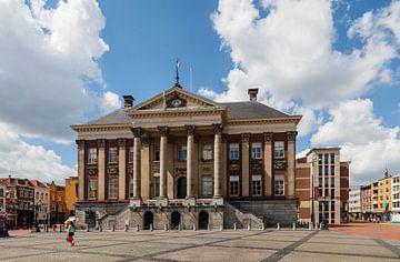 Stadhuis van Groningen aan De Grote Markt, Nederland sur