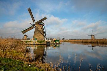 Les moulins à vent de Kinderdijk aux Pays-Bas sur