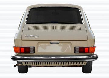 VW 411 rear view in original color