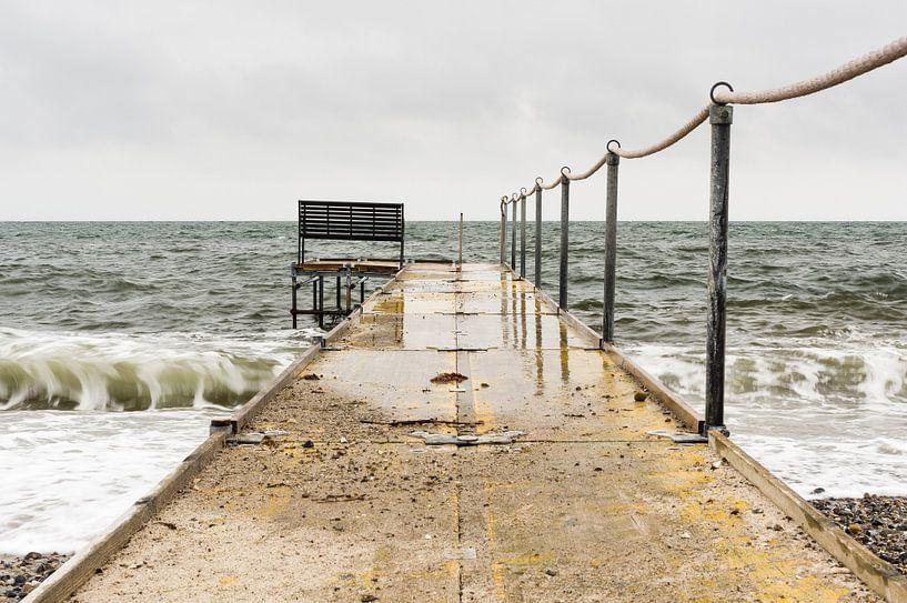 Steg bei schlechtem Wetter sur Tony Buijse