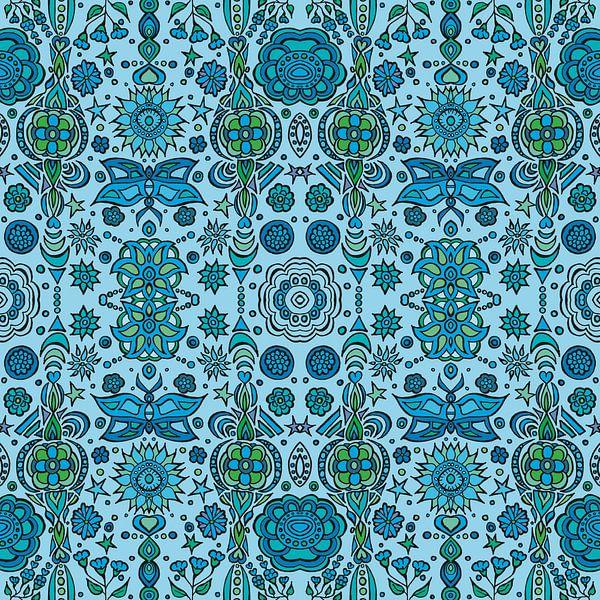 Blue Pattern van Esther  van den Dool
