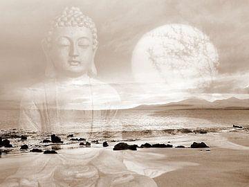 Frieden Buddha Lanzarote Strand sur Renate Knapp