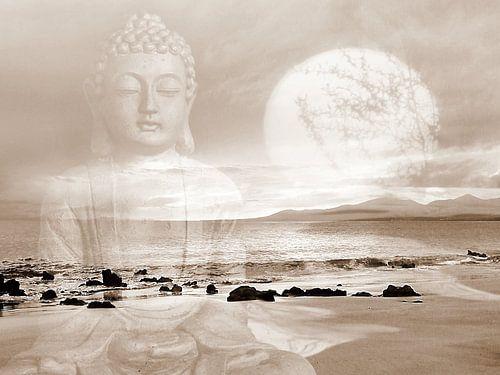 Frieden Buddha Lanzarote Strand van