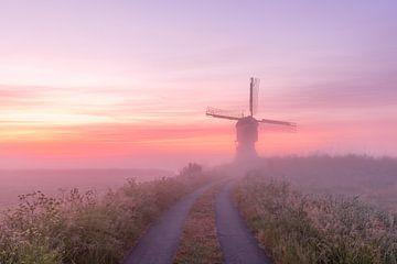 Mühle im Nebel von mytruecolours