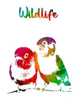 Liefdesvogels van Printed Artings