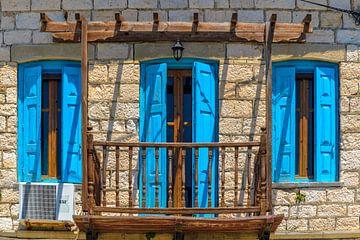 Balkon mit Tür und Fenstern von Rinus Lasschuyt Fotografie