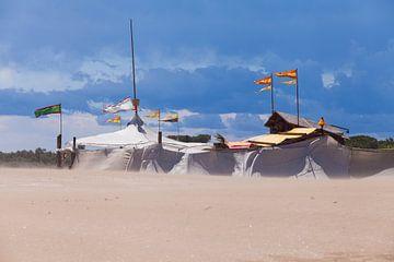 Zand en zandkasteel von Willy Sybesma