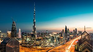 De Dubai Skyline  van