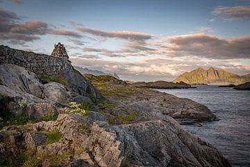 Fjordenblik, Lofoten in Noorwegen van
