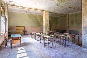 Verlassenes Klassenzimmer.