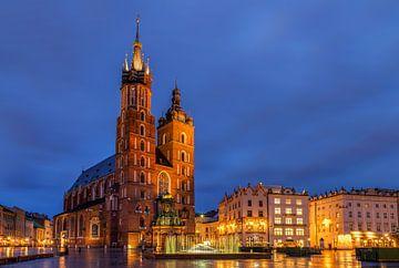 Avond in Krakau, Polen van Adelheid Smitt