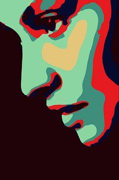 Silhouet van een vrouwengezicht van The Art Kroep