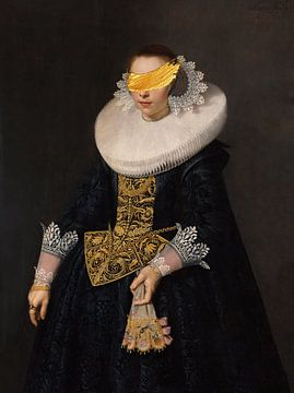 Portrait of a Young Woman van Rudy en Gisela Schlechter
