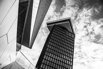 Shelltoren Amsterdam Zwart-Wit von PIX URBAN PHOTOGRAPHY