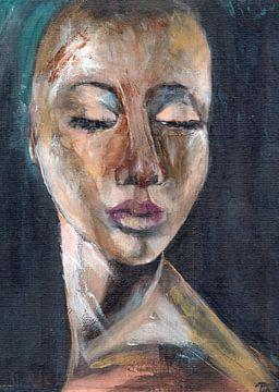 Porträt einer afrikanischen Frau von Pam du Pau