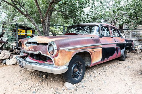 Oude Amerikaanse auto - DeSoto van Els Broers